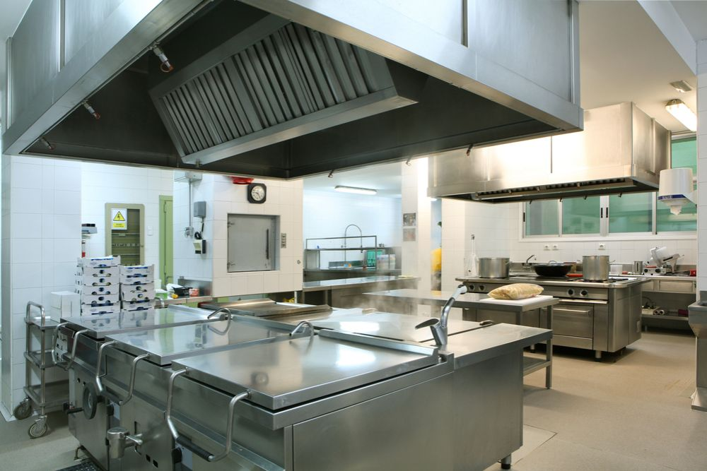 Photo of a cleaned commercial kitchen area